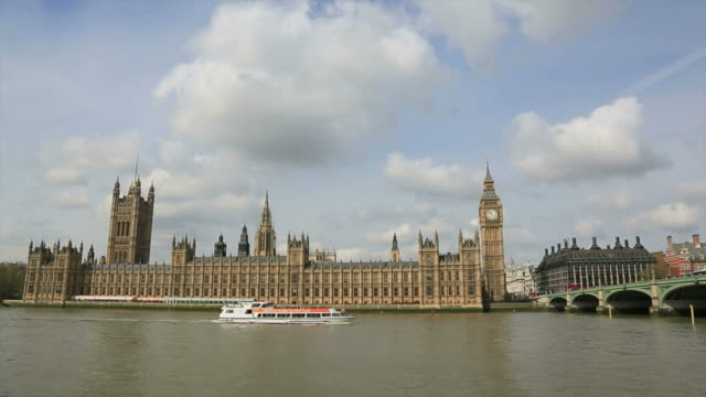Westminster Abbey And Big Ben, London, UK video