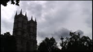 (HD1080i) Westminster Abbey Under Clouds video