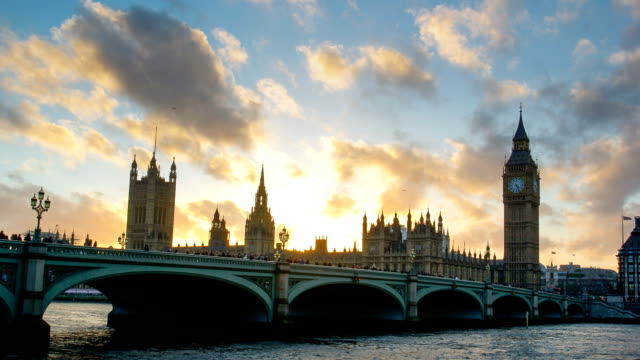 Westminster Big Ben time lapse, London, UK video