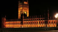 HD Westminster Palace at Night (Time Lapse) video