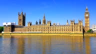 Westminster with Big Ben in London, England video