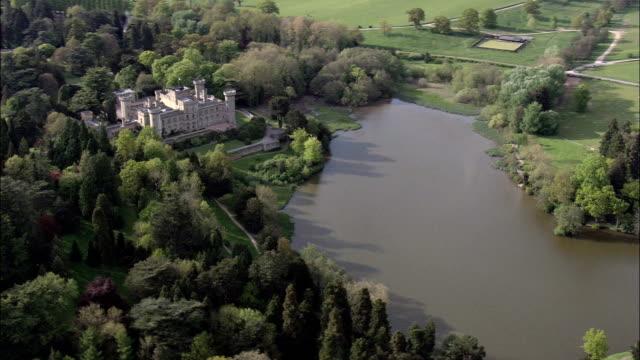 Weston Park  - Aerial View - England,  Staffordshire,  South Staffordshire District,  United Kingdom video