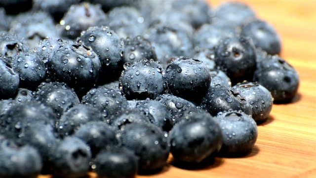 Wet Blueberries (endless loop) video
