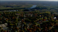 Wethersfield And Green  - Aerial View - Connecticut,  Middlesex County,  United States video