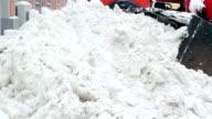 Wheel Loader Moving Snow video