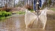 SLO MO Wheelie through a puddle video