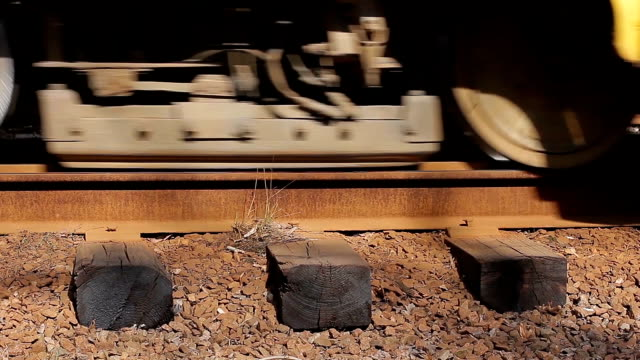 Wheels of tram. video