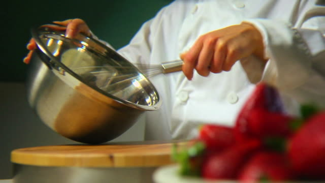 Whipping cream for strawberry video