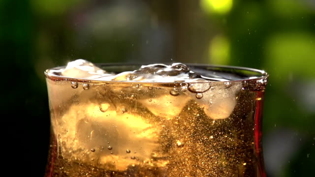 Whirling Ice Cubes in a Glass video