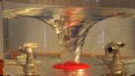 Whirlpool underwater in laboratory. video