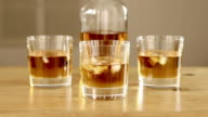 Whiskey Glasses And Bottle With Ice video
