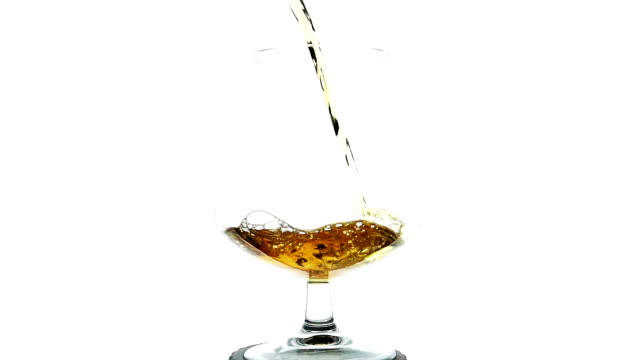 Whisky Pouring Into A Glass In Slow Motion video