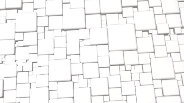 White Abstract Cubes 3d Background In 4k video