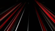 White and red traffic light streaks loopable animation video