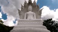 white big buddha in phuket thailand time lapse video