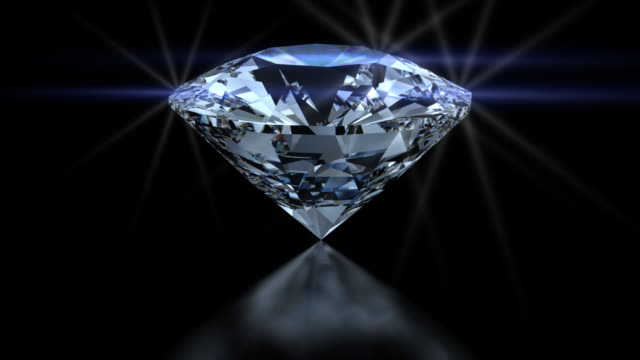 HD White Blue and Red Spinning Diamond video
