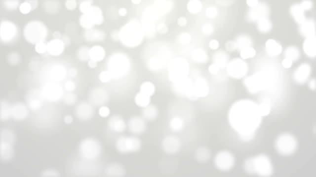 White Bokeh Lights Moving Around video