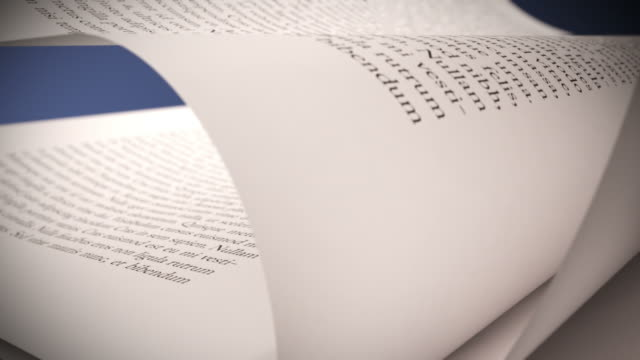 White book's pages turning. Close up loopable CG. video