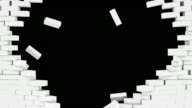 White brickwall explosion video