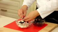 White cheese with cherry video