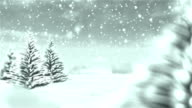 White Christmas Winter Background video