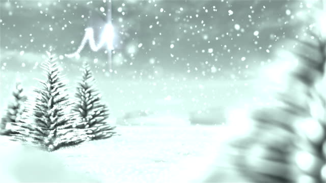 White Christmas Winter Background with Text video