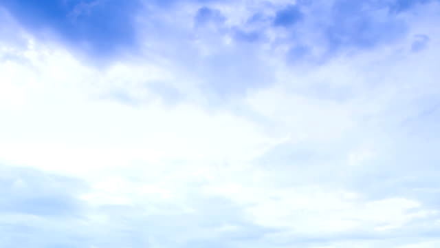white clouds and blue sky video