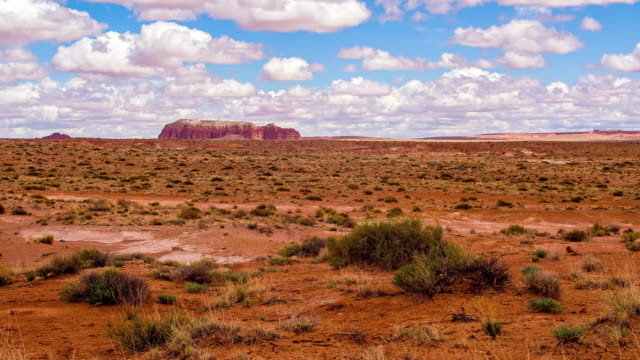 DS White clouds forming over the desert of Utah video