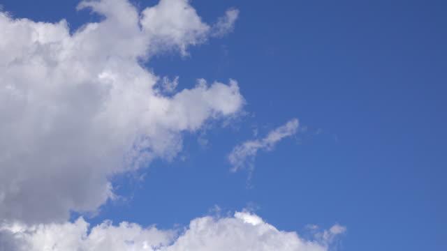 White clouds in blue sky video