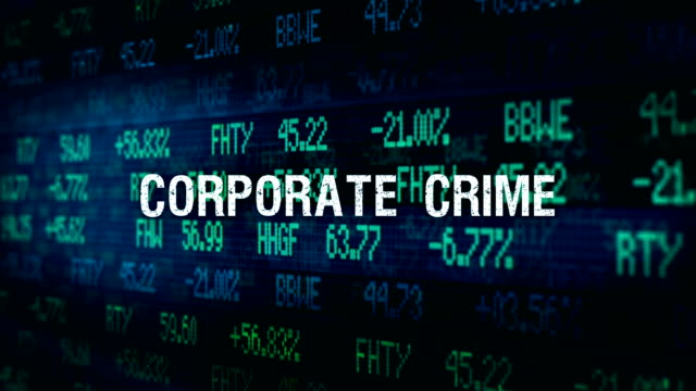 White Collar Crime Financial ominous typography - Corporate Crime video