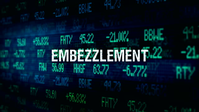 White Collar Crime Financial ominous typography - Embezzlement video