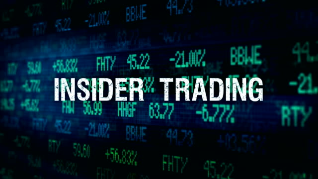 White Collar Crime Financial ominous typography - Insider Trading video