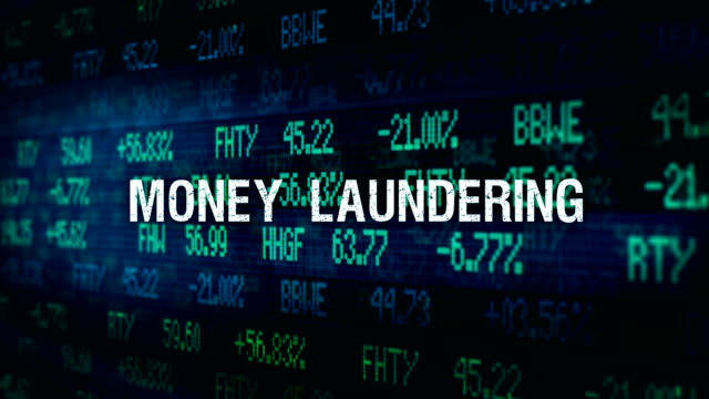 White Collar Crime Financial ominous typography - Money Laundering video