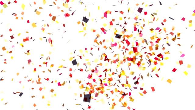 White Confetti Explosion video
