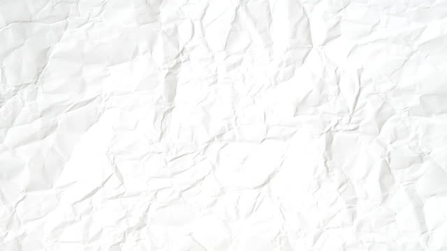 white crumpled paper animation effect, with blank like blackboard background, idea education video