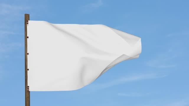 White flag - slow motion video
