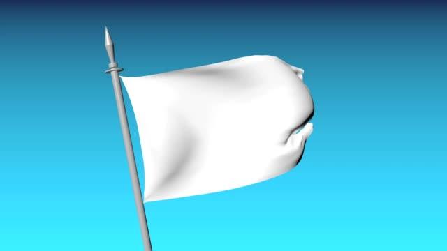 White flag waving video
