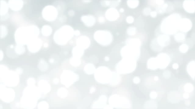 White Glittering Bokeh Lights Abstract Background video