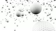 White Golf Balls Bouncing video