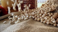 White Haricot Beans Falling video