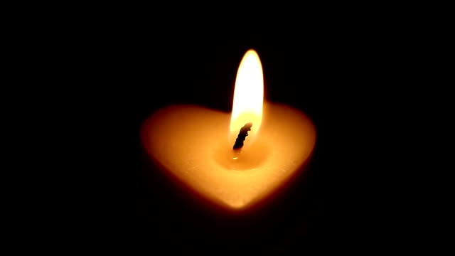 white heart candle video