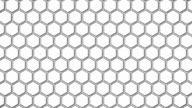 White Hexagon Animated Shape Background video