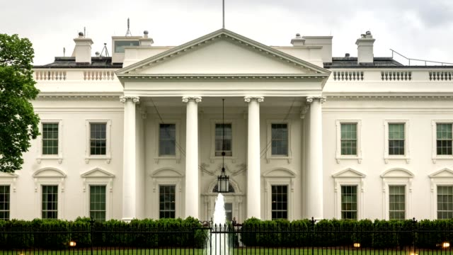 White House North Facade in Washington, DC - Zoom Out video