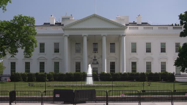 White House North Facade Lawn Washington, DC Zoom In - 4k/UHD video