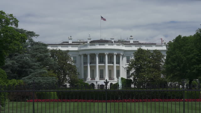 White House South Lawn in Washington, DC in 4k/UHD video