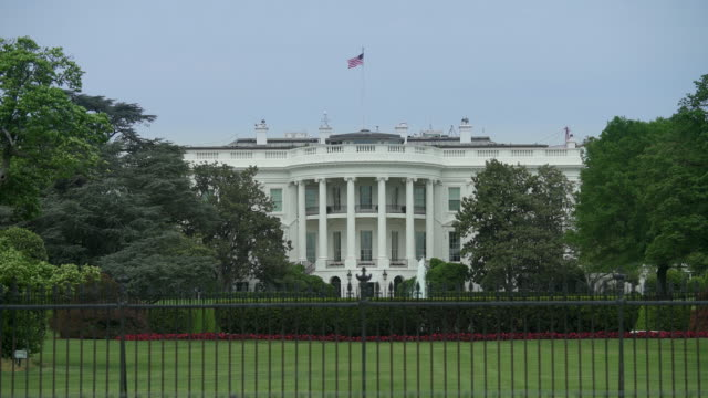White House South Lawn Washington, DC -Zoom In - in 4k/UHD video