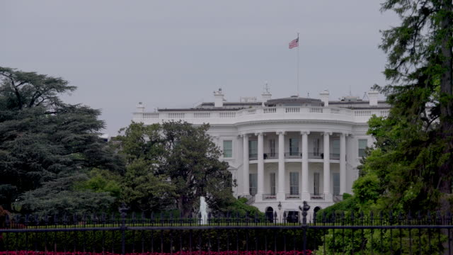 White House Southeast View Close Up in Washington, DC in 4k/UHD video