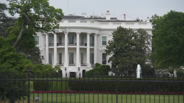 White House Southwest View Close Up in Washington, DC in 4k/UHD video