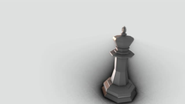 White king piece in a White background video