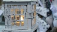white lantern in winter video